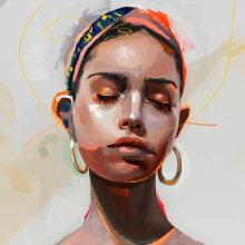 Ramdom Portraits V2. Un proyecto de Ilustración, Pintura, Ilustración digital, Ilustración de retrato y Dibujo de Retrato de Leo Jimenez Art - 21.08.2018