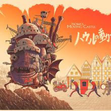 El castillo ambulante. A Film, Poster Design, and Digital illustration project by Cristian Eres - 10.12.2018
