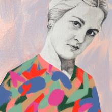 Mi Proyecto del curso: Retrato con lápiz, técnicas de color y Photoshop. Un projet de Illustration de portrait de Elisa Restrepo - 03.10.2018