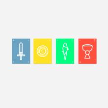 Baraja española. Un proyecto de Dirección de arte, Diseño gráfico, Ilustración vectorial, Dibujo e Ilustración digital de Gonzalo López - 01.01.2017