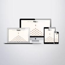 Diseño web Alpha Economics Magazine. Un proyecto de Dirección de arte, Diseño gráfico y Diseño Web de Disparo Estudio - 17.10.2018