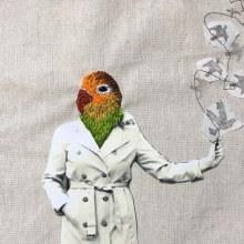 El hombre es un cautivo y no puede liberarse. A Photograph, Printing, and Embroider project by Irene García Garrido - 10.19.2018
