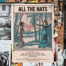 """Mi Proyecto del curso: Cartelismo ilustrado   All The Hats """"Uno a Uno"""". Un proyecto de Música, Audio, Diseño gráfico, Packaging y Diseño de carteles de Nicolás Romero - 23.10.2018"""