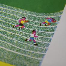 Estampación Lámina para la ilustradora Olga Capdevila . Un proyecto de Estampación de Print Workers Barcelona - 24.10.2018