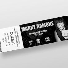 Ticket concierto. Un proyecto de Diseño gráfico de Patricia Gonzalez Garcia - 30.10.2018