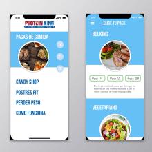 Prototipo Delivery comida saludable y Fitness. Un projet de UI / UX , et Design graphique de Juan Carlos Pineda M - 30.10.2018