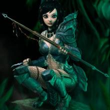 Predator Girl . Un proyecto de Ilustración y Diseño de personajes de Rafa Flores Art - 31.10.2018