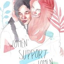 Women support women. Un proyecto de Ilustración de Amalia Torres - 10.11.2018