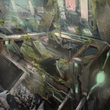 Dystopian Cities Concept art. Un proyecto de Arquitectura, Diseño de juegos y Concept Art de Joseph Vitale - 09.07.2016