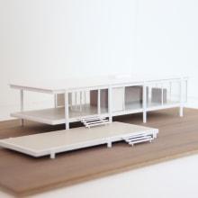 Maqueta Casa Farnsworth de Mies van der Rohe. Un proyecto de Arquitectura de Clàudia Balcells Carner - 14.11.2018