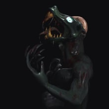Monstruo del COCO. Um projeto de 3D, Animação, Escultura, VFX, Animação de personagens, Animação 3D, Modelagem 3D e Concept Art de Victor Nava - 20.11.2018