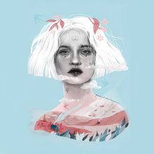 Campos pastel. Un proyecto de Ilustración, Ilustración digital e Ilustración de retrato de Beatriz Ramo (Naranjalidad) - 21.11.2018