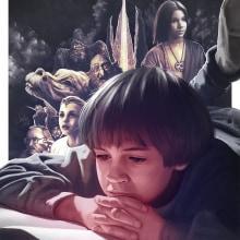 The NeverEnding Story Poster (AMP). Un proyecto de Ilustración, Dibujo a lápiz e Ilustración digital de Juan Saniose - 23.11.2018