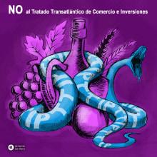 No al TTIP. Un proyecto de Ilustración de Antonio de Haro Garzón - 13.05.2016