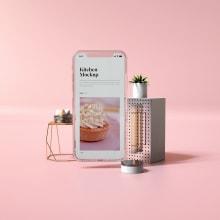 The Dreamer Free Bundle Mockups. Um projeto de 3D, Br, ing e Identidade, Design interativo e Web design de Thanh Nguyen - 30.11.2018