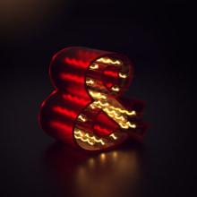 Mi Proyecto del curso: Lettering 3D: modelado y texturizado con Cinema 4D. A 3D project by Amaia Sémper González - 11.30.2018