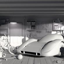 Garage environment. A Interior Architecture, and 3d modeling project by Amaia Sémper González - 11.30.2018