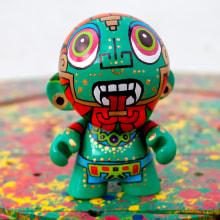 Munny Quetzalcóatl . Un proyecto de Diseño de juguetes de Ruben Sandoval - 30.11.2018