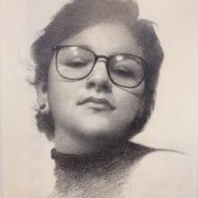 "Retrato Realista con Lapiz de Grafito / Proyecto: ""Retrato de Erna"" . Um projeto de Desenho realista de Erna Alvarado & Kevin Pérez - 03.12.2018"