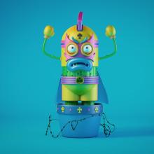 ¡Pinche Cabrón!. Un proyecto de 3D, Diseño de personajes, Modelado 3D y Diseño de personajes 3D de David Sanz Soblechero - 17.12.2018
