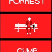 Forrest Gump - Cartel en movimiento. Un proyecto de Animación, Diseño de personajes, Animación de personajes y Animación 2D de Miguel Camacho Gordaliza - 19.12.2018