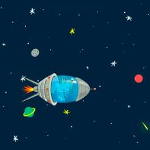 Road to the Earth - Corto con Adobe Animate. Un proyecto de Animación, Diseño de personajes, Animación de personajes y Animación 2D de Miguel Camacho Gordaliza - 19.12.2018