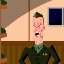 Clint Eastwood - El sargento de hiero. Un proyecto de Animación, Diseño de personajes, Animación de personajes y Animación 2D de Miguel Camacho Gordaliza - 19.12.2018