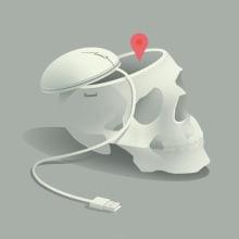 "Emilio Rolandi - ""Google Effect: Changes to our Brains"". Un proyecto de Ilustración, Informática e Ilustración digital de Emilio Rolandi - 20.12.2018"