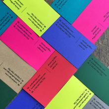 Tarjeta personales handmade. Um projeto de Design de logotipo e Design gráfico de Clara Briones Vedia - 23.12.2018