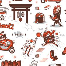 SushiGO. Un proyecto de Ilustración, Dirección de arte, Br e ing e Identidad de Alberto Ojeda - 07.05.2015