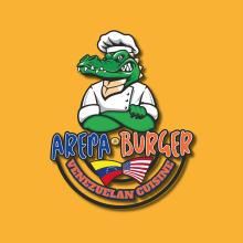 Logo Arepa Burger. Un proyecto de Diseño de logotipos de Julio Betancourt - 28.09.2018