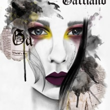 John Galliano. A Illustration, Fashion, Pencil drawing, Drawing, Fashion Design, Digital illustration, and Artistic drawing project by elisabet navarro martínez - 03.10.2016