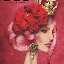 Dolce&Gabbana . A Design, Illustration, Fashion, Pencil drawing, Drawing, Fashion Design, Digital illustration, and Artistic drawing project by elisabet navarro martínez - 11.10.2015