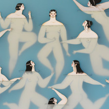 Japanese swimmers. A Illustration, and Fine Art project by Sonia Alins Miguel - 01.11.2019