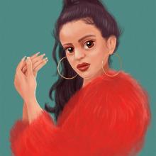 Rosalía - Malamente. Un proyecto de Ilustración, Diseño de personajes, Ilustración digital, Ilustración de retrato y Dibujo realista de Antonio Ufarte - 12.01.2019