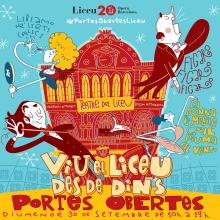 """Liceu de Barcelona.""""Viu el Liceu des de Dins"""" (Vive el Liceo desde dentro) . Un proyecto de Ilustración y Diseño de carteles de Juanma García Escobar - 22.01.2019"""