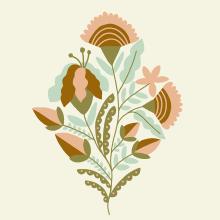 Fun flowers. A Illustration, Malerei, Vektorillustration, Bleistiftzeichnung, Zeichnung, Digitale Illustration, Prägung und Artistische Zeichnung project by Sabina Alcaraz - 25.01.2019