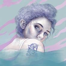 Ojos tan profundos como el mar.. A Illustration, and Portrait illustration project by María González - 01.10.2019