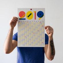 Calendario 2019. Um projeto de Design gráfico de Clara Briones Vedia - 26.01.2019