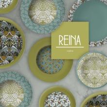 REINA | PATTERNS PARA VAJILLAS. Un proyecto de Pattern Design de Ana Marques - 31.01.2019