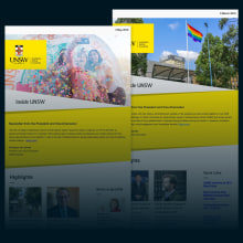 Inside UNSW. A Br, ing, Identit, Education, Graphic Design, Interactive Design, Web Design, and Digital Marketing project by Gabriel Hidalgo Witker - 02.11.2019