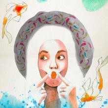 Mi Proyecto del curso: Retrato ilustrado en acuarela. Un proyecto de Diseño, Ilustración, Bocetado, Creatividad, Dibujo a lápiz, Dibujo, Ilustración digital, Ilustración de retrato, Dibujo de Retrato y Dibujo artístico de Alejandro Pineda - 11.02.2019
