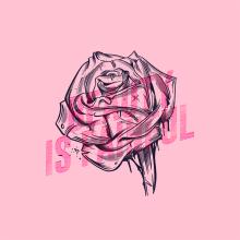 Pink Series. A T, pografie, Lettering und Digitale Illustration project by Daniel Hosoya - 13.02.2019