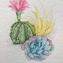 Mi Proyecto del curso: Ilustración botánica con acuarela. Un proyecto de Bellas Artes de Ana Ines Cohen - 19.02.2019