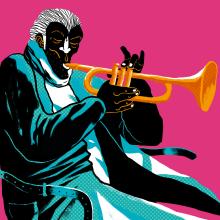 Jazz & Black 2019. Um projeto de Ilustração, Design gráfico, Design de cartaz e Ilustração digital de ZRVK - 20.02.2019