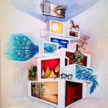 Espacios. Un proyecto de Ilustración, Paisajismo, Pintura, Dibujo a lápiz, Dibujo, Pintura a la acuarela, Ilustración de retrato, Dibujo realista y Dibujo artístico de laura cora - 21.02.2017