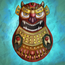Matrioshka Samurai. A Digital illustration project by Albo Ruiz - 03.06.2019