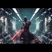 DARTH VADER. A Graphic Design, Post-production, and Digital illustration project by Brayan Torres - 07.29.2018