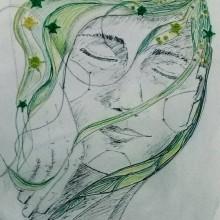 Sueño Verde. Un proyecto de Bellas Artes, Bordado y Dibujo artístico de Laura Bello - 07.03.2019