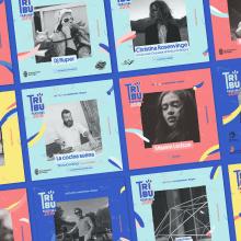 Festival TRIBU 2018. Um projeto de Design gráfico de Clara Briones Vedia - 11.03.2019